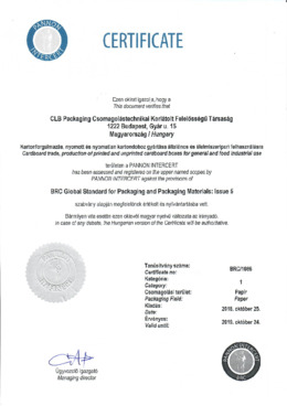 BRC Global Standard for Packaging and Packaging Materials: Issue 5